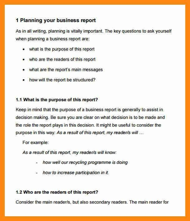 10+ format of a business report | graphic-resume