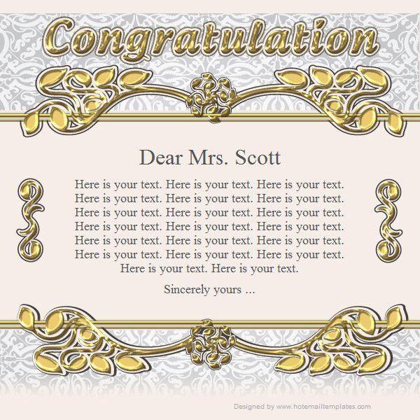 Congratulation | Free HTML E-Mail Templates