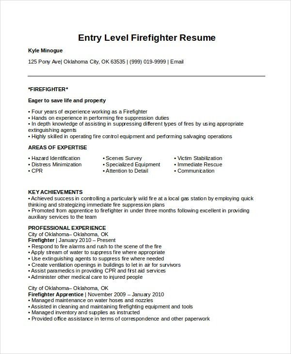Appealing Firefighter Resume 57 For Your Resume Sample With ...
