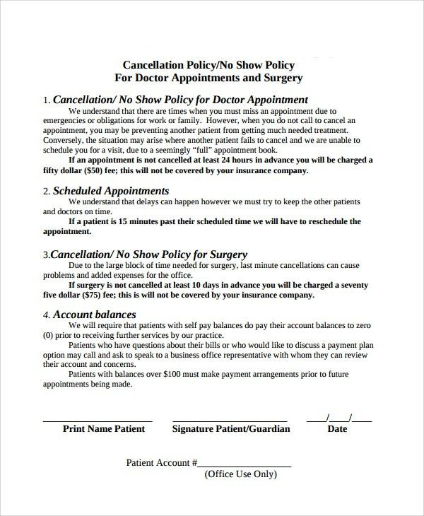 Cancellation Policy Template - 8+ Free Documents Download in PDF