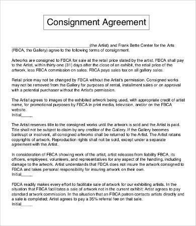 Artist Agreement Template - 9+ Free Word, PDF Documents Download ...