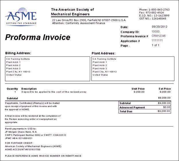 Proforma Invoice Non-b