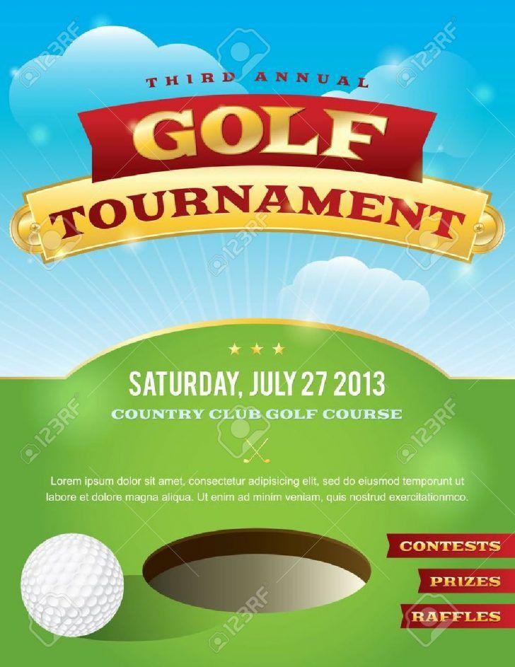 Golf Tournament Brochure. Green Golf Tournament Trifold Brochure ...