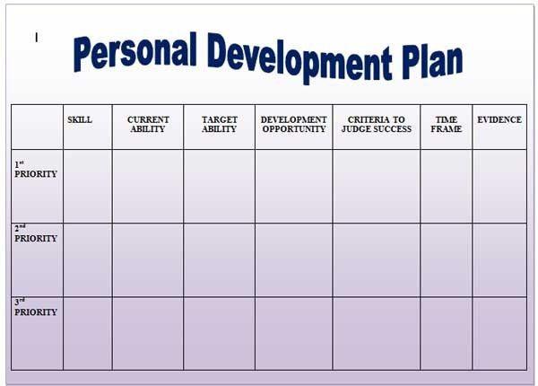 Personal-Development-Plan-Template12 | www.dream-to-believe.… | Flickr