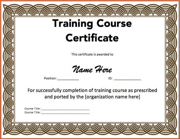 8+ certificate templates word - bookletemplate.org