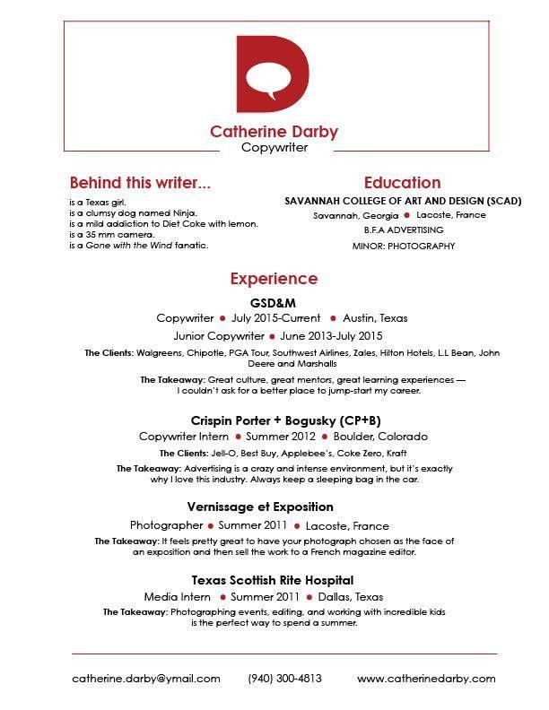 Resume — Catherine Darby
