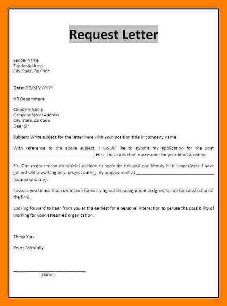 Formal Request Letter. Bank Request Letter 6+ Formal Request ...