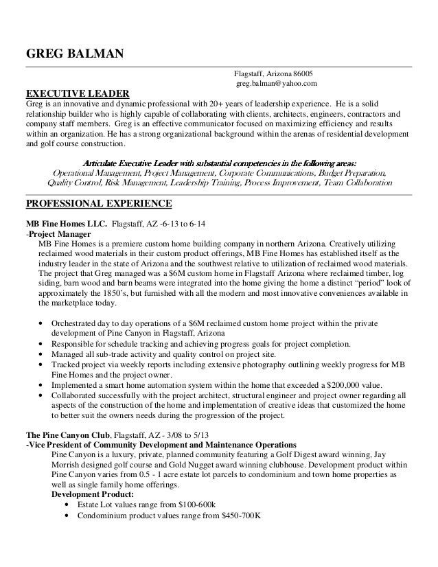 Greg Balman Professional Resume Linkedin edition 2014