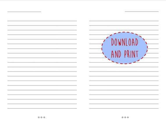 Lined Paper Instant Download | Letter Size | Journal Pages | Lined ...