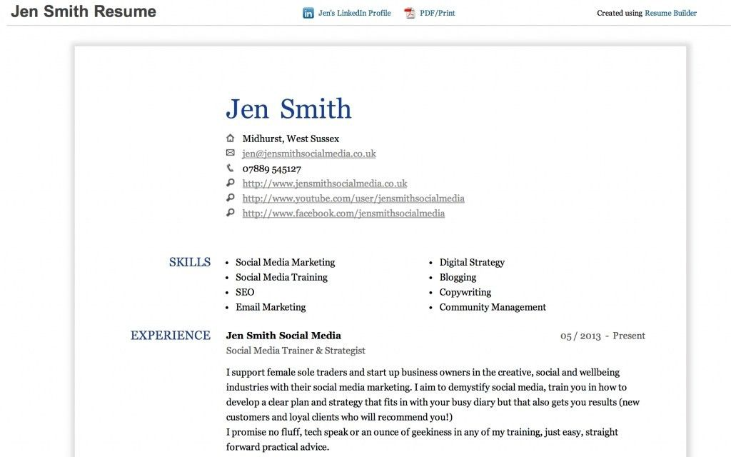linkedin resume builder resume builder create a resume from your