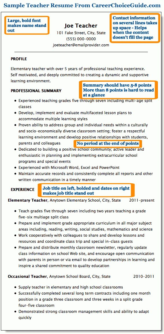 professional teaching resume unforgettable teacher resume