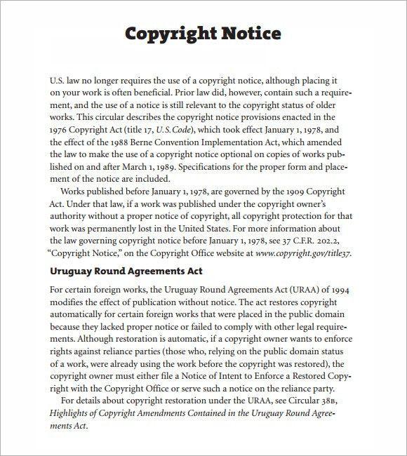 copyright example - thebridgesummit.co