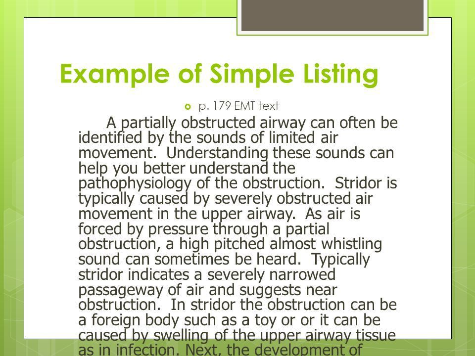 Patterns of Organization and Signal Words Allied Health Textbook ...