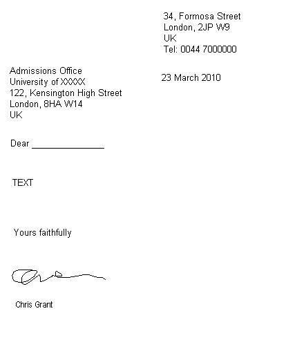 How to Write a Formal Letter « Get Ready for IELTS