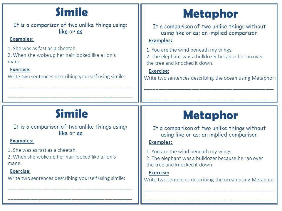 Figurative language My Poetry Booklet Figurative language - ppt ...
