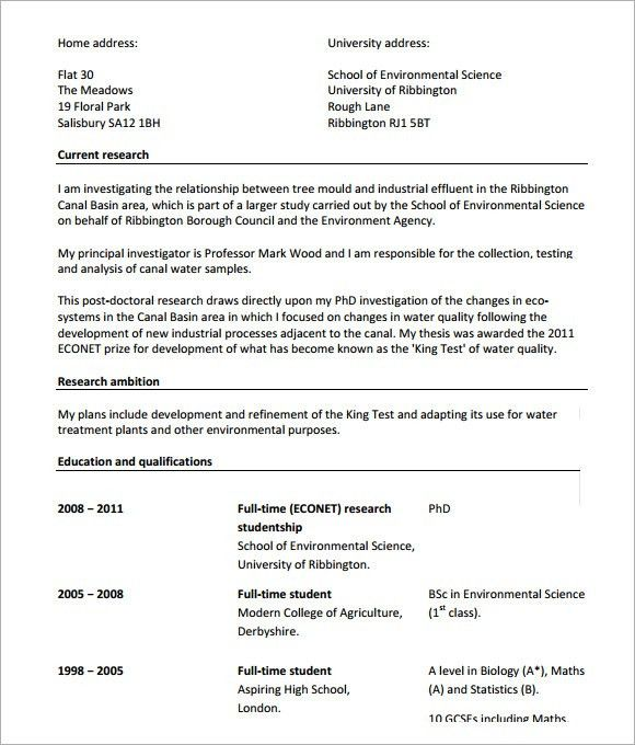 20+ [ Cv For Phd Application ] | Phd Cover Letter Political ...
