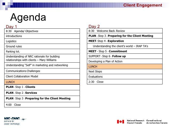 Client Engagement Session