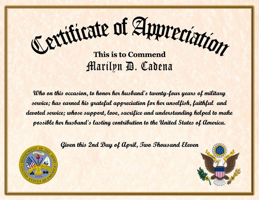 28+ Military Certificates Templates | Certificate Of Retirement ...