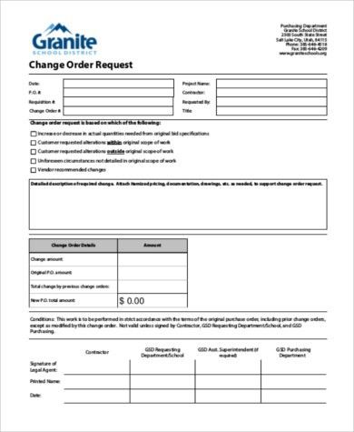 Sample Change Request Form - 8+ Free Documents in Word, PDF