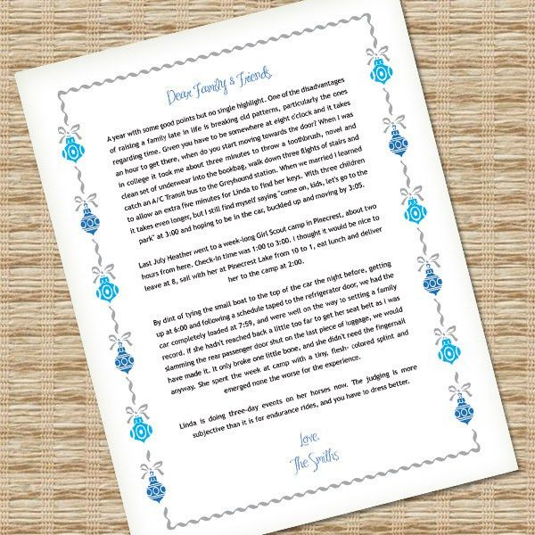 Microsoft Word Christmas Letter Template with Ornaments – Download ...