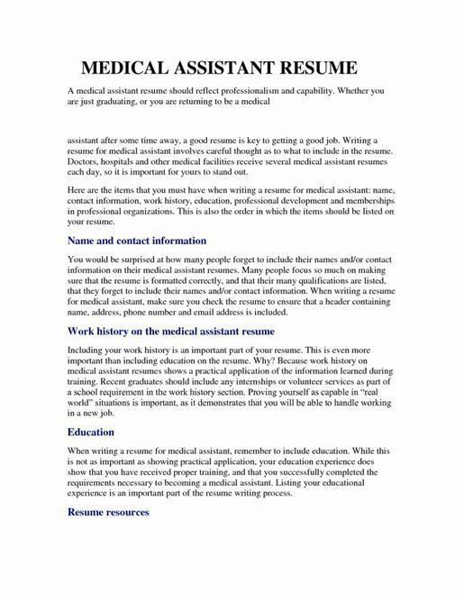 medical assistant resume template free samples examples tklhtn - Medical Assistant Resume Template Free