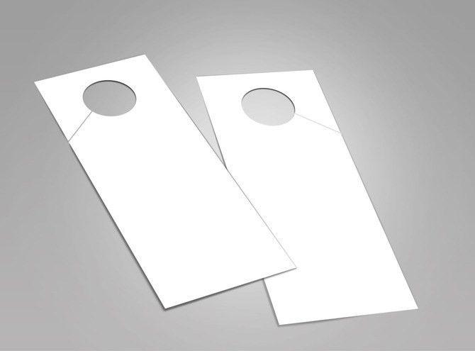 Blank Door Hanger Templates | MyCreativeShop