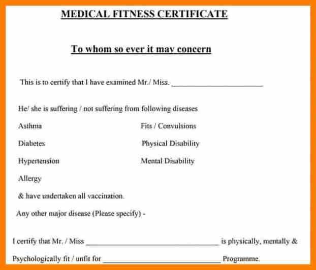 4+ medical certificate sample | science-resume