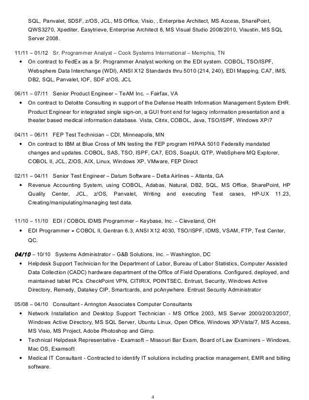 Edi Analyst Sample Resume - shalomhouse