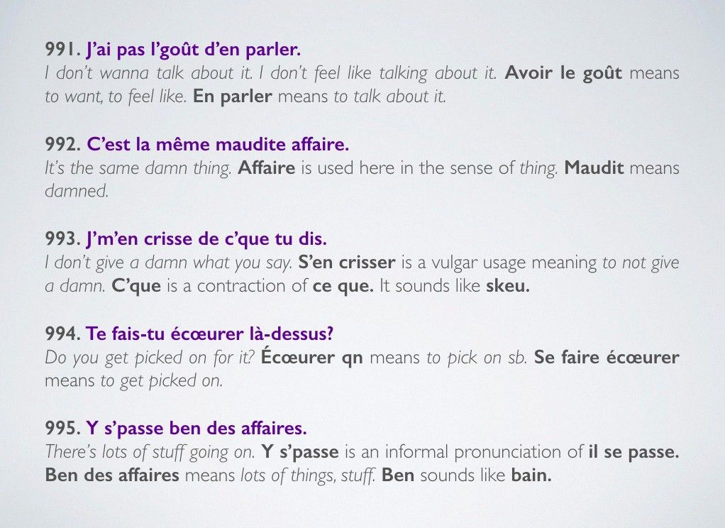 1000 examples of use for a much better understanding of Québécois ...