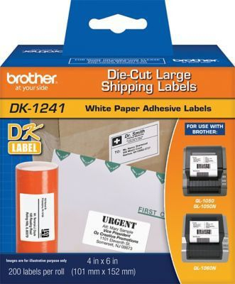 Brother DK1241 Large Shipping Labels (200 Labels) | Staples®