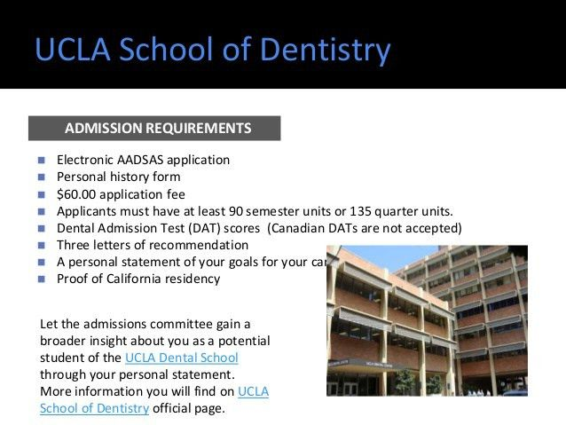 Top dental schools - admission requirements
