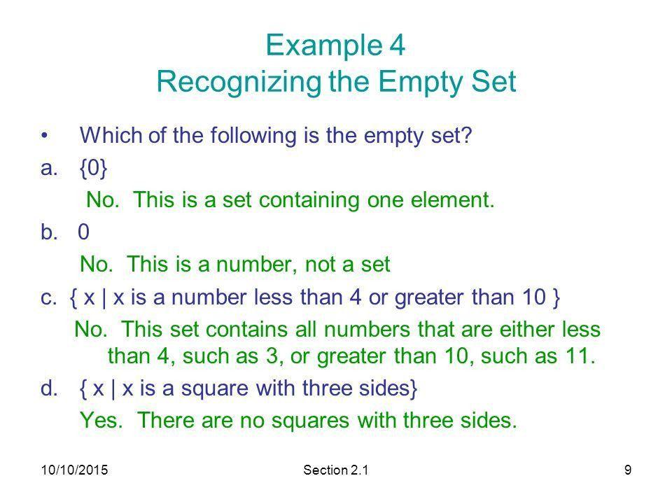 Section 2.1 Basic Set Concepts - ppt download
