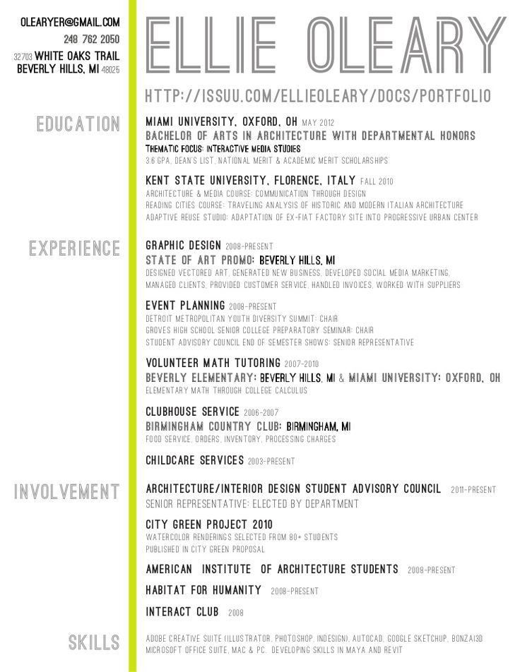 227 best Creative CV Ideas and Placement Advice images on ...