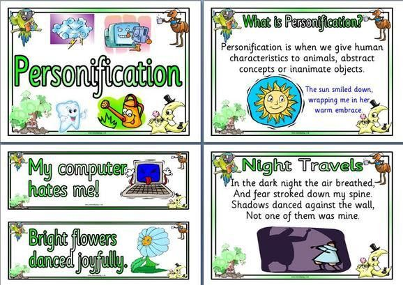 Personification - Mrs. Warner's 4th Grade Classroom