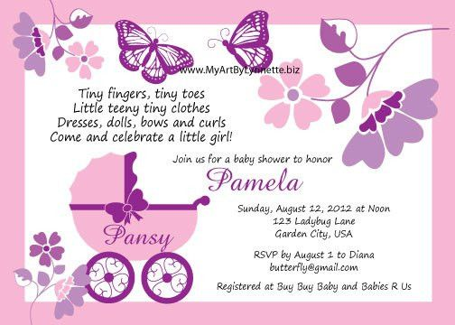 Butterfly Baby Shower Invitations Templates Free — All Invitations ...