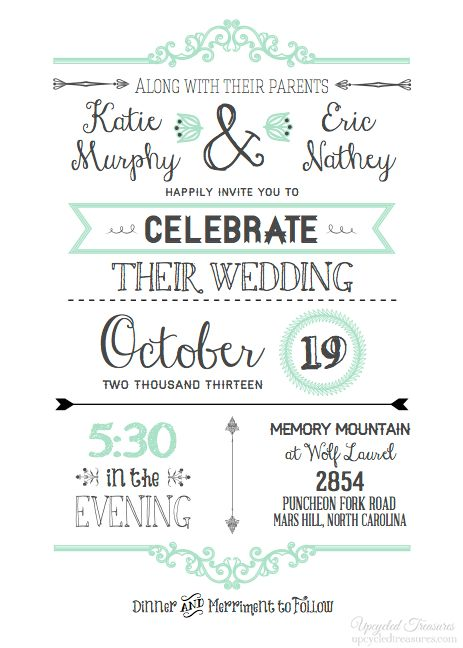 Free Wedding Invitation Template - marialonghi.Com