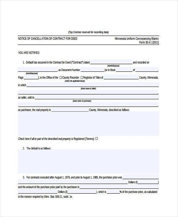7+ Contract Cancellation Form Samples - Free Sample, Example ...