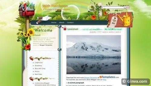 50 Handpicked Beautiful Free Blogger Templates | Ginva