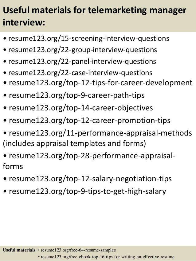 telemarketing resume samples unforgettable experienced