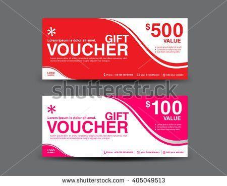 Orange Green Gift Voucher Template Coupon Stock Vector 409940206 ...