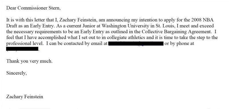 Draft Zach Feinstein