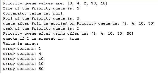 Java PriorityQueue Class Example