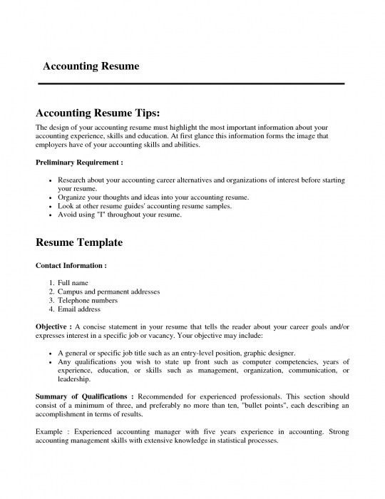 The Most Brilliant Resume Format For Experienced Accountant ...