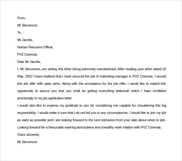Brilliant Ideas Of Thank You Letter For Job Offer Sample For Cover .