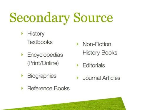 Primary Sources – Tok History intended for Example Of Secondary ...
