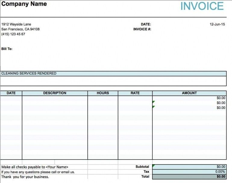 Download Invoice Template Services Rendered | rabitah.net
