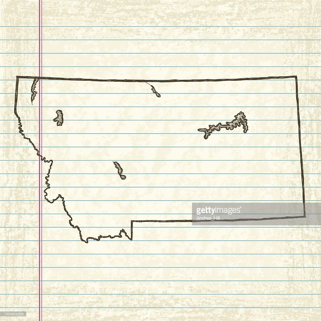 Vector Sketchy Map On White Lined Paper Background Louisiana ...