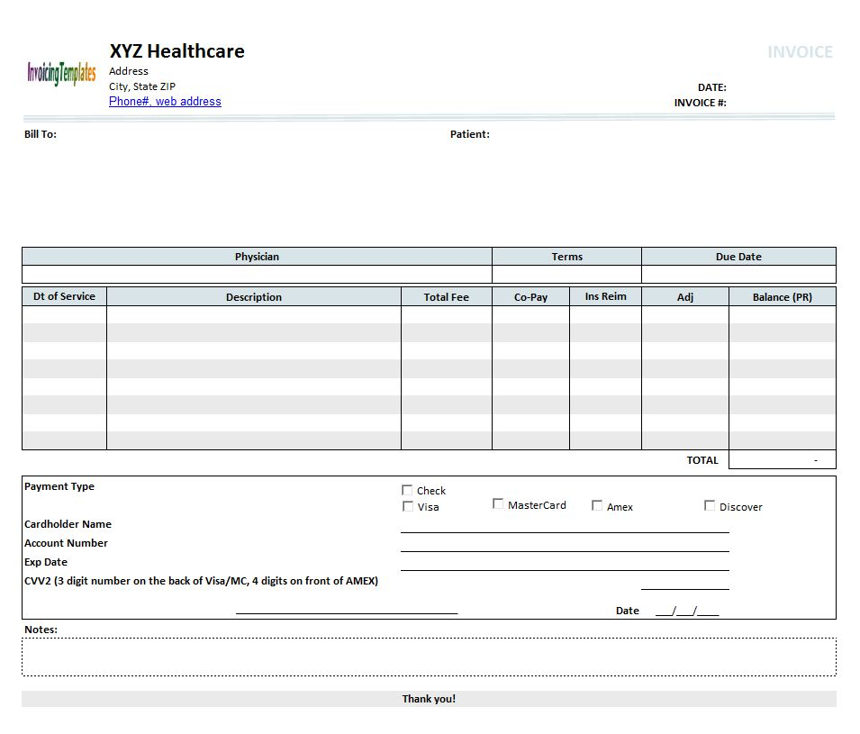 House Rental Invoice Template in Excel Format | House Rental ...
