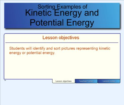 SMART Exchange - USA - Kinetic Energy and Potential Energy Examples