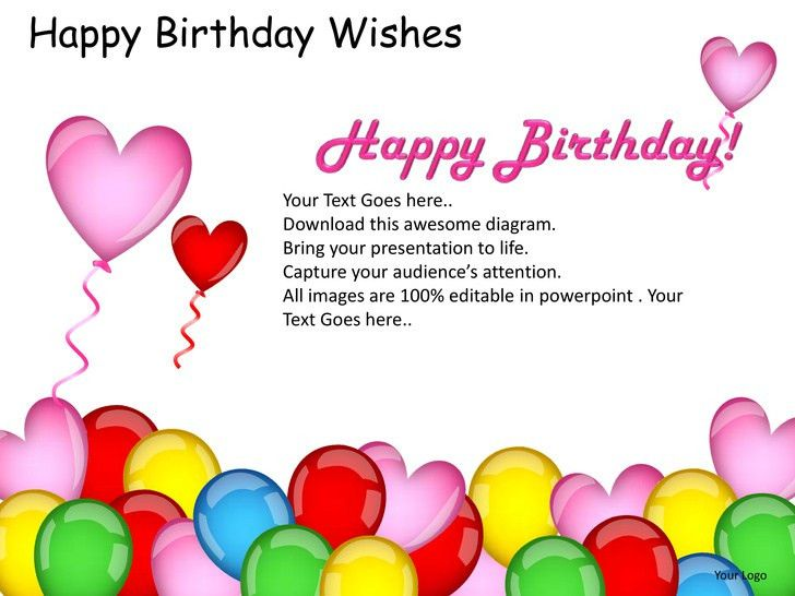 Happy birthday wishes powerpoint presentation templates
